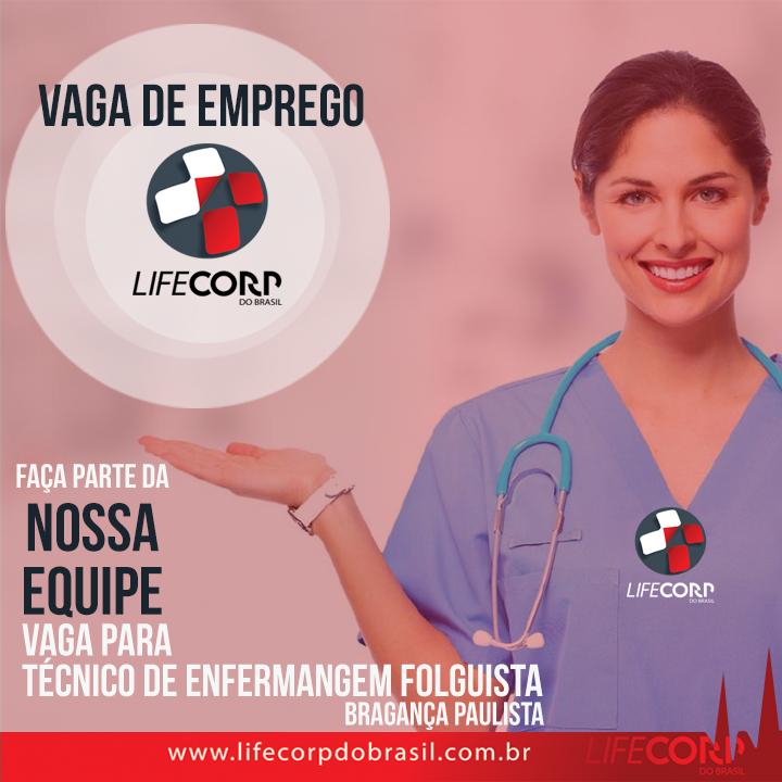 61830689 1550401815097185 145381181225959424 n - Estamos contratando para Bragança Paulista Técnico (a) de🚑Enfermagem folguista.